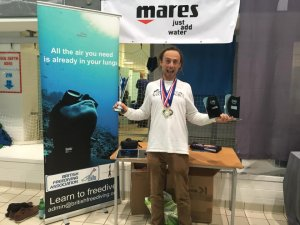 2019 UK Pool Freediving National Championships.  Blue Water Freediving School